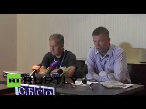 "Ukraine: ""Tomorrow we have to get to the MH17 crash site"" says OSCE official"