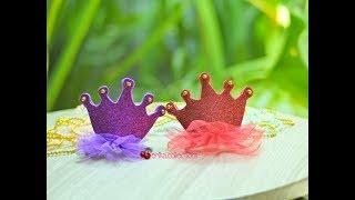 Easy DIY Crown Hair Clip - Tutorial membuat jepit rambut mini crown
