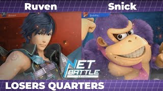 NBS9 | Ruven (Chrom, Meta Knight) vs. Snick (Donkey Kong) | Losers Quarters