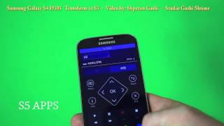 Samsung Galaxy S4 I9505 transform to S5 TouchWiz