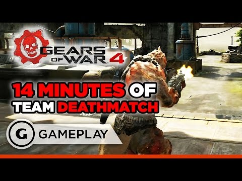 14 Minutes of Team Deathmatch - Gears of War 4 Beta Gameplay