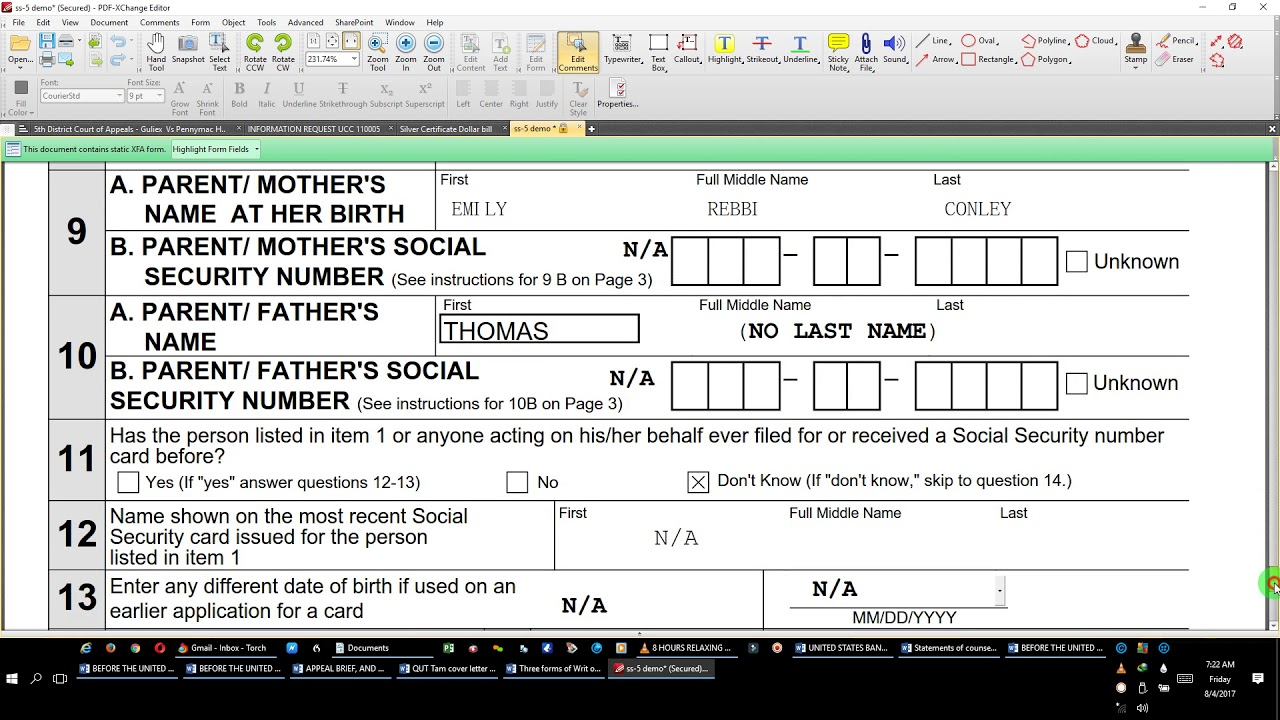 Social security form ss and the process2017 08 04 by eeon youtube social security form ss and the process2017 08 04 by eeon falaconquin