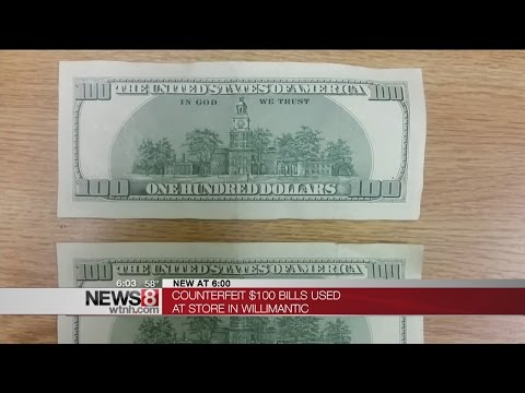 Fake $100 Dollar Bills Found In Willimantic