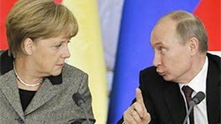 Реакция Меркель на 'юмор' Путина / Merkel's reaction on Putin's 'humor'