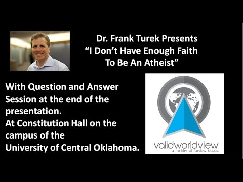 Dr. Frank Turek at the University of Central Oklahoma