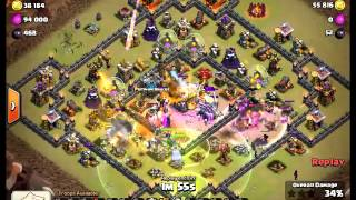 Clash of Clans TH11 vs TH11 War Attack - WIPE OUT - Mass Witch Attack TH11 - 3 Star Attack