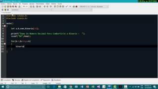 Decimal a Binario en dev c++  - Raúl Casillas