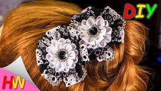 Kanzashi hair pins to school on September 1.🌺 Kanzashi Tutorial