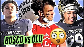 St. John Bosco vs Orange Lutheran 🔥🔥  This One Got Out of Hand EARLY... Action Packed Highlight Mix