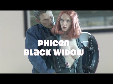 ✔Custom  PHICEN BLACK WIDOW Captain America Winter Soldier NOT Hot Toys