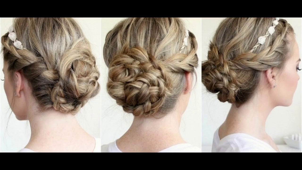coiffure pour mariage invit chignon youtube. Black Bedroom Furniture Sets. Home Design Ideas