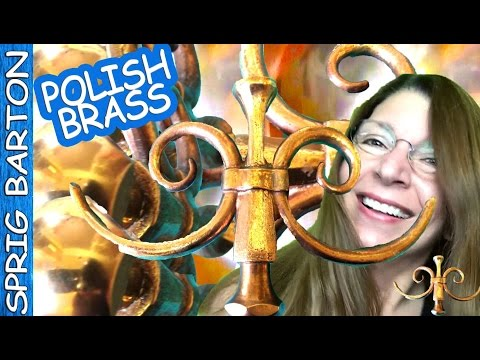 POLISH BRASS WITH VINEGAR AND SALT: How to Clean Copper & Brass: Sprig Barton: Rubber Gloves