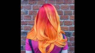 Сложное цветное окрашивание волос омбре с плавным переходом цвета(http://salon.kawaicat.ru/jarkoe_okrashivanie - больше работ по яркому цветному окрашиванию Мы окрашиваем волосы в яркие цвета..., 2016-07-18T08:38:26.000Z)