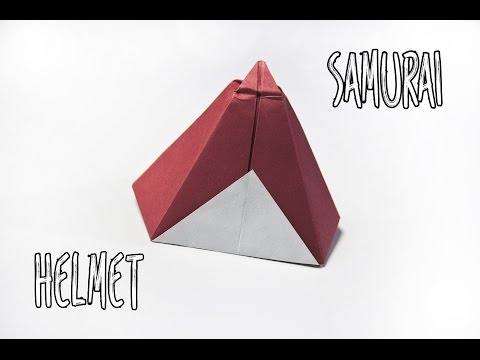 How to make an origami samurai hat   Paper Helmet