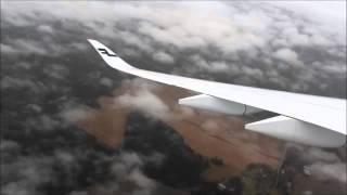 Finnair A350-900 landing at Helsinki Airport (HEL)