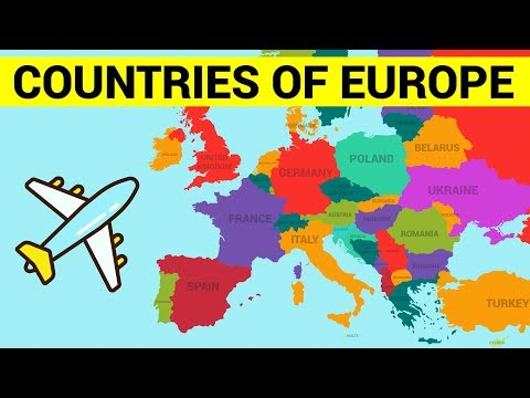 COUNTRIES OF EUROPE for Kids - Learn European Countries Map with Names