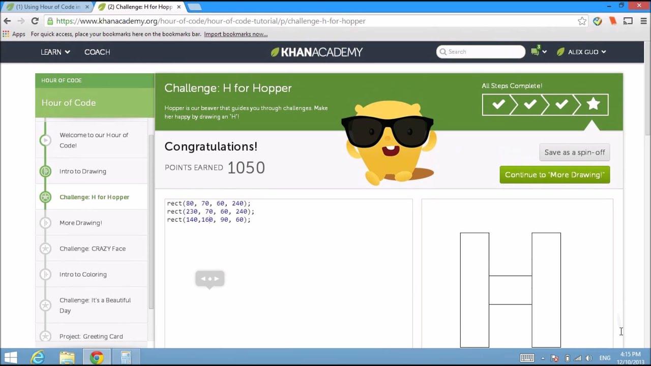 Hour of Code Khan Academy