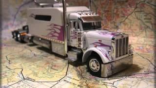 Custom Model Peterbilt Old School Big Sleeper White & Purple Pearl