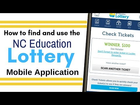 NC Education Lottery Mobile App: Buy Lotto Tickets, Check Scratch Off's & Enter 2nd Chance Drawings