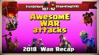 FistOfHell VS Star-king[VN]   TH11 War Recap #66   Clash Of Clans   2018  
