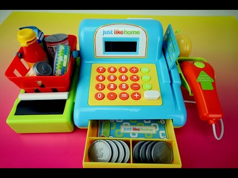 Just Like Home Electronic Toy Cash Register Playset by Toys R Us