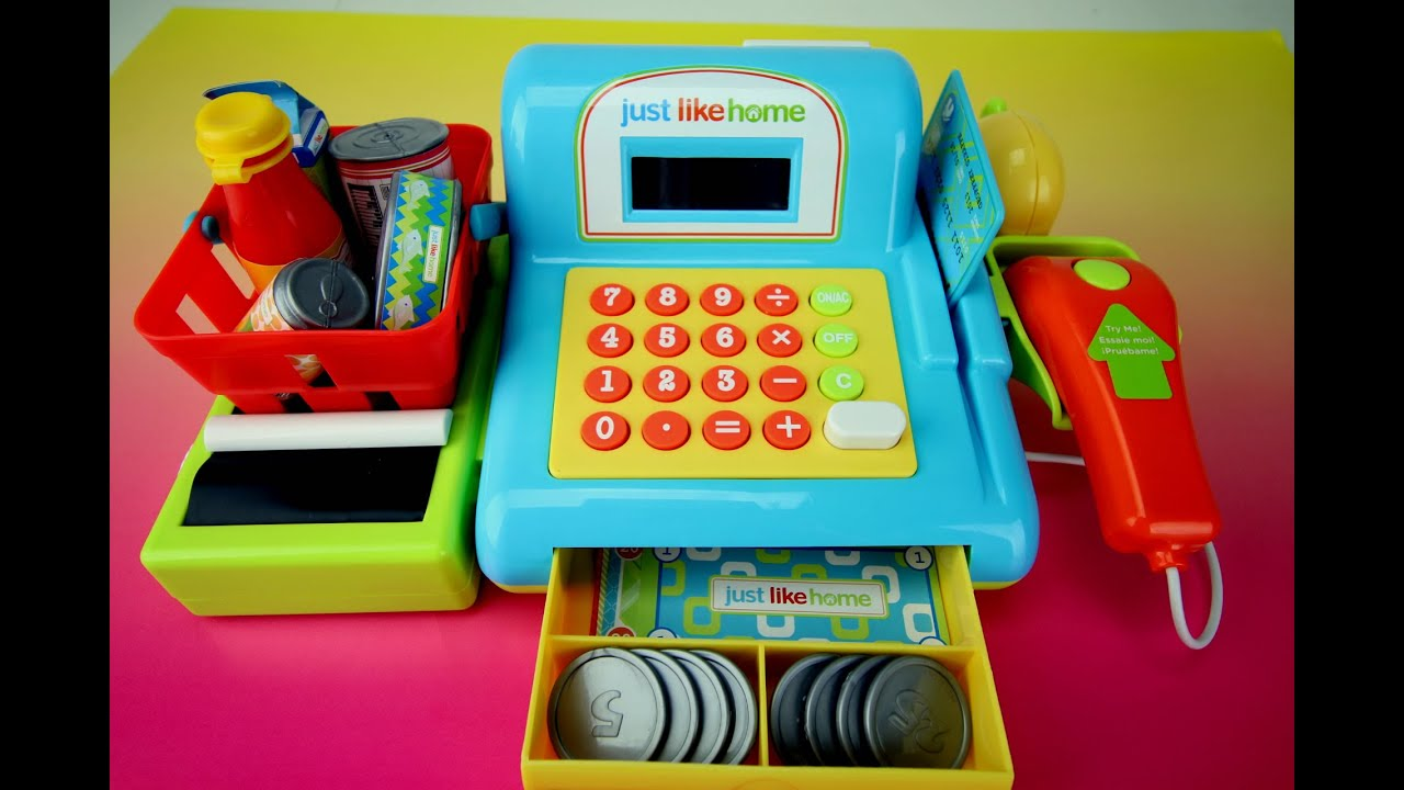 Just Like Home Electronic Toy Cash Register Playset by Toys R Us ...