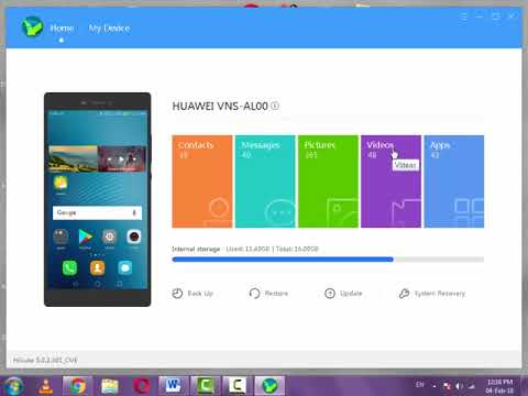 How To Import Videos From Android To Pc With Huawei Suite Youtube