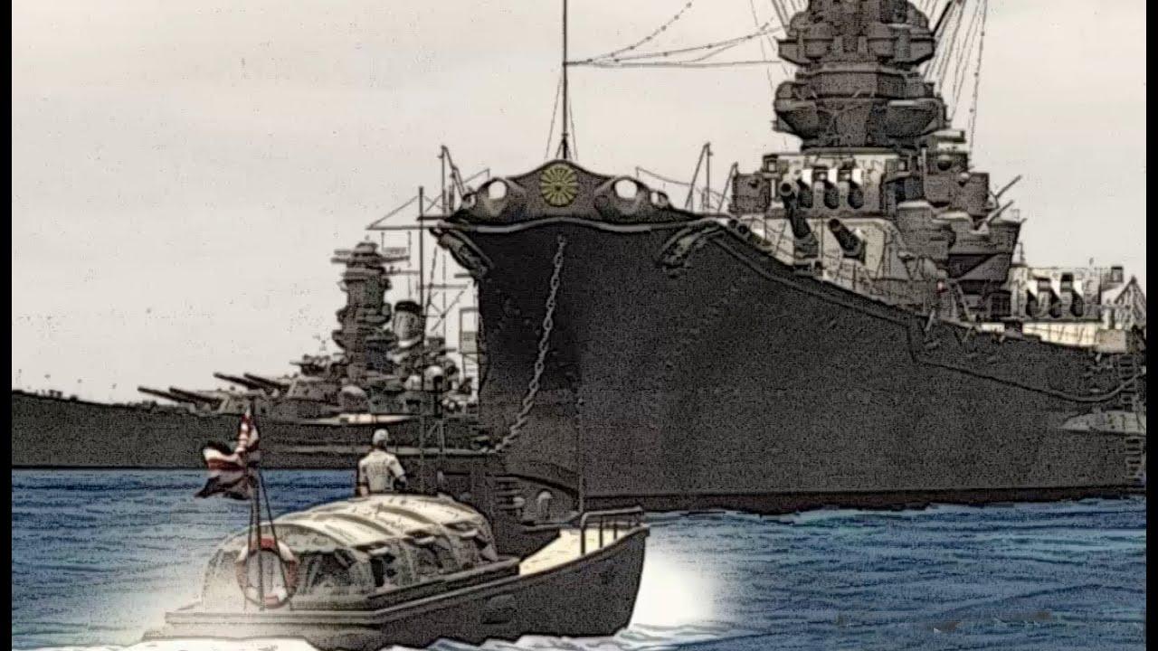 戦艦大和へ向かうボート