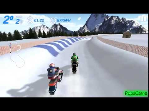 Бесплатные игры онлайн  Snow Cross, Гонка на снегоходах