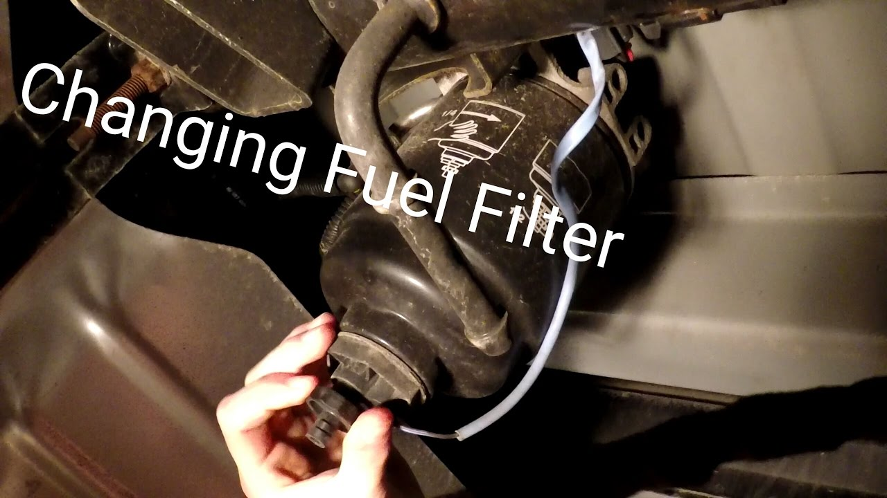 hight resolution of changing fuel filter on a 2014 ram 2500 cummins