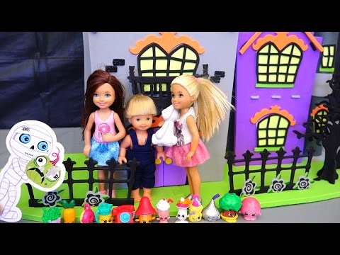 Barbie Toys - A Ghost Follows Chelsea and Her Friends & Gets Her Shopkins Kid-friendly Family Fun