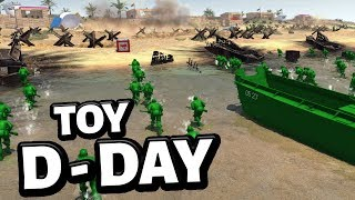 Epic Toy D-Day Invasion ! Army Men Storm the Beaches !