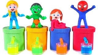 FUNNY KIDS PLAY WITH COLOR SLIME ❤ Play Doh Cartoons For Kids