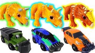 Triceratops? Pachyrhinosaurus? No!! I am Dino Mecard tiny dinosaurs...