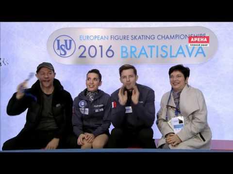Фигурное катание. Чемпионат Европы 2016. Спортивные пары. Короткая программа (3-я и 4-я разминки)
