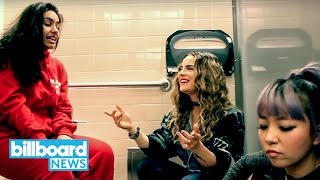 JoJo, Alessia Cara, & DNCE's JinJoo Lee Have a Bathroom Jam With 'I Can Only' | Billboard News