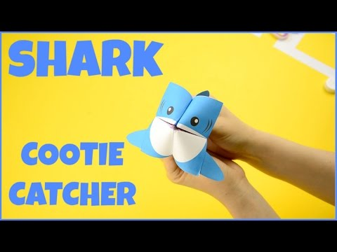 How to Make a Cootie Catcher Shark - Origami Paper Craft