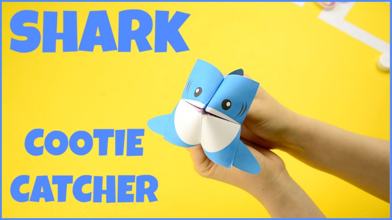 How To Make A Cootie Catcher Shark Origami Paper Craft Youtube