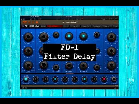FD 1 Filter Delay by Kai Aras - Standalone & AUv3 - Demo for the iPad