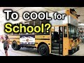 Inside a Custom Skoolie Shop & Bus Runs on Used vegetable oil