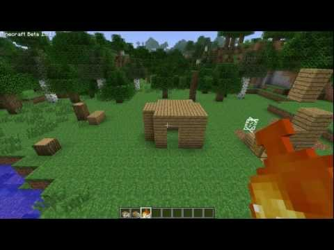 Minecraft - How to make a fireproof house Out of wood! [outdated]