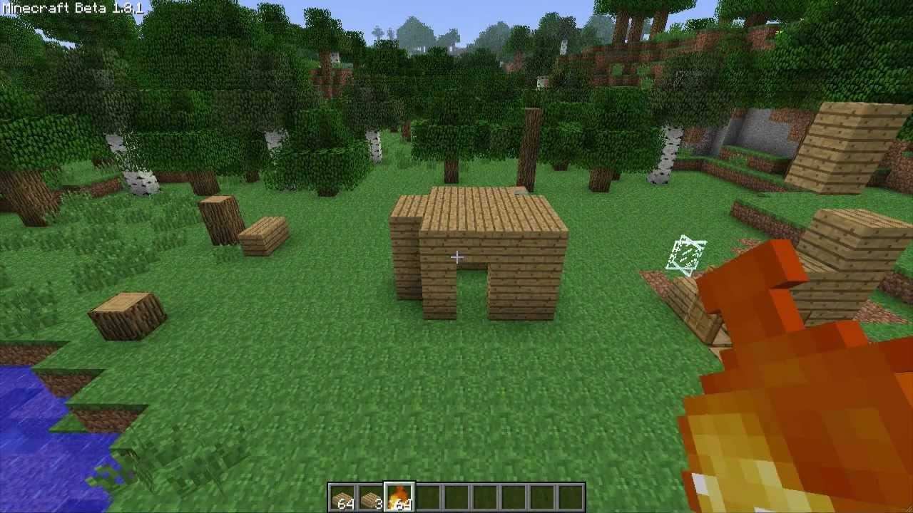 Minecraft How To Make A Fireproof House Out Of Wood Outdated YouTube