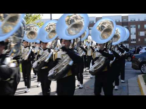 Purdue All-American Marching Band 2016 Enroute to Ross-Ade Stadium