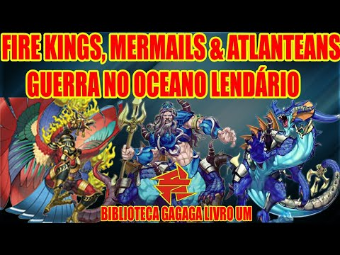 FIRE KINGS, MERMAILS & ATLANTEANS HISTÓRIA - YU-GI-OH! BIBLIOTECA LIVRO 1