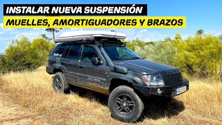 Nueva suspensión para el Jeep, muelles, amortiguadores y brazos