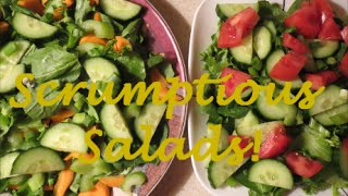 Scrumptious Salads!  Day 139 - Embracing Wellness Daily Vlog (october 4, 2014)