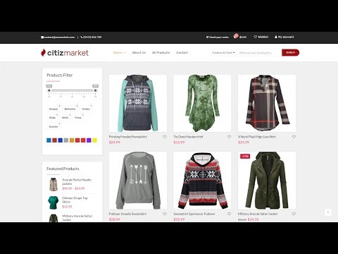How to Create an eCommerce Website with WordPress Online Store – WooCommerce Webshop – 2018