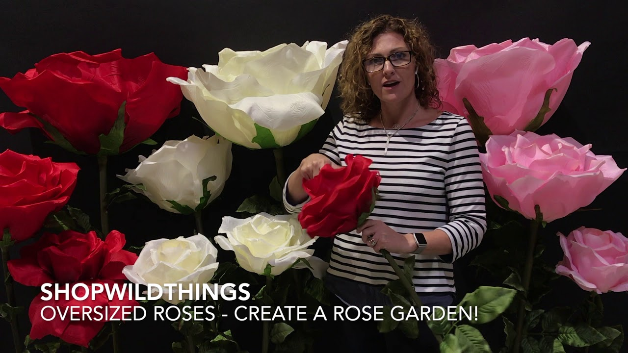 ShopWildThings Oversized Life-sized Roses for Event Party Props