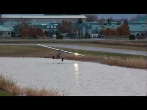 [HD] AWESOME Piper PA-18-150 Super Cub Takeoff + Hydryplaning CSU3