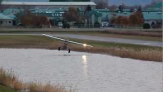hd awesome piper pa 18 150 super cub takeoff hydryplaning csu3